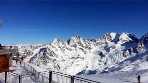 Aussicht auf Piz Palü 3900m Berninagruppe und Ötztalleralpen